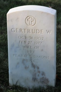 Gertrude <I>Wilcox</I> Simons