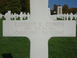 PFC Earnest R Cowen