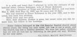 Octavia <I>McCoy</I> Robinson