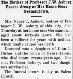 Nancy Jane <I>Disher</I> Asbury