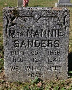 Nannie Jane <I>Whitaker</I> Sanders