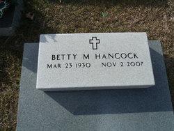 Betty M Hancock