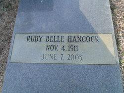Ruby <I>Belle</I> Hancock