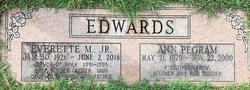 Ann Bradshaw <I>Pegram</I> Edwards
