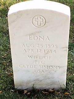 Edna <I>Yaples</I> Simons