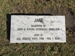 Jane <I>Donelson</I> Hays
