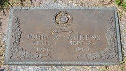 """John Arthur """"Johnny"""" Ahrens"""