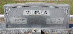 Minnie <I>Helms</I> Stephenson