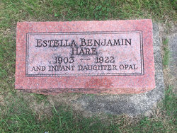 Mrs Estella <I>Benjamin</I> Hare