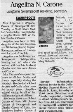 Angelina N. <I>Pagano</I> Carone