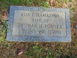 Ada F. <I>Hammond</I> Fowler