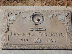 Levertha Fae <I>Thiele</I> Johns