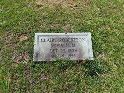 Claire <I>Robertson</I> McCallum
