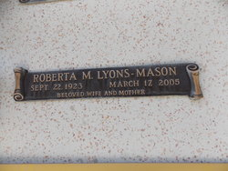 Roberta M. <I>Lyons</I> Mason