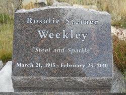 Rosalie Maxine <I>Steiner</I> Weekley