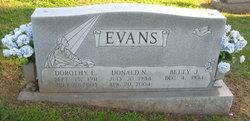 Dorothy Edith <I>Blevins</I> Evans