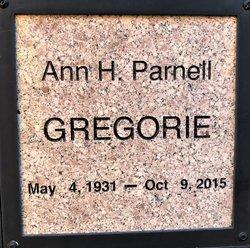 Ann H <I>Parnell</I> Gregorie