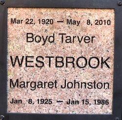 Margaret <I>Johnston</I> Westbrook