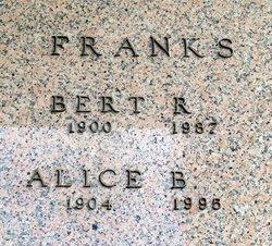 Alice Bertha <I>Turner</I> Franks