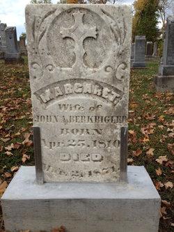 """Maria Margaretha """"Margaret"""" <I>Weigel</I> Berkbigler"""