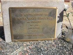Uanita Mary <I>Gregory</I> Simounds