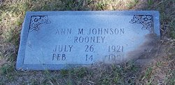 "Ann Marie ""Rooney"" <I>McSheehy</I> Johnson"