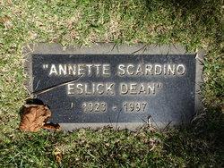 Annette Nettie <I>Scardino</I> Eslick - Dean