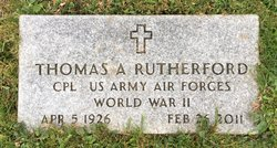 CPL Thomas A Rutherford