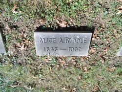 Alice A. <I>Birdsell</I> Riddle