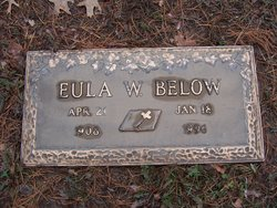 Eula W. <I>Snider</I> Below