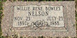 Willie Rene <I>Bowles</I> Nelson
