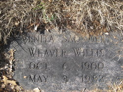Venita Weaver <I>Saunders</I> Willis
