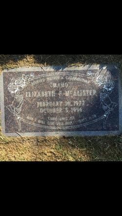 Elizabeth F McAlister