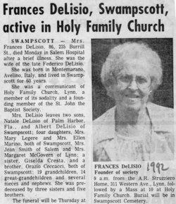 Frances Ceccacci DeLisio (1905-1992) - Find A Grave Memorial