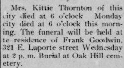 "Rebecca Catherine ""Kittie"" <I>Geller</I> Thornton"
