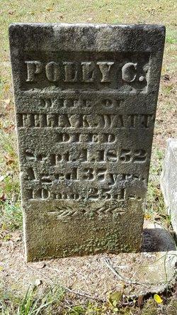 """Mary C """"Polly"""" <I>Hagler</I> Watt"""