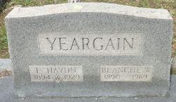 Blanche <I>Wansley</I> Yeargain