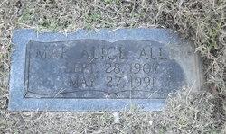 """Mary Alice """"Mae"""" <I>Boyd</I> Allen"""