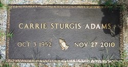 Carrie Louise <I>Sturgis</I> Adams