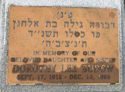 Dorothy <I>Lee</I> Budow
