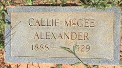 Callie Lou <I>McGee</I> Alexander