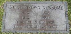 Goldie <I>Brown</I> Newsome