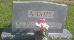 Mittie Elizabeth <I>Adams</I> Adams