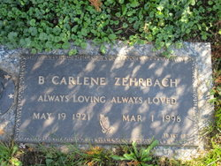 B Carlene <I>Ketterman</I> Zehrbach