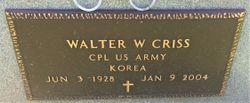 Walter Wayne Criss