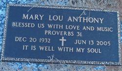 Mary Lou <I>Dean</I> Anthony