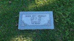 Marie <I>Hitt</I> Sherman