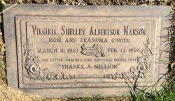 Virginia <I>Shelley</I> Manson