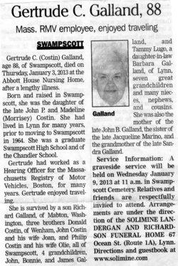 Gertrude Catherine Costin Galland (1924-2013) - Find A Grave