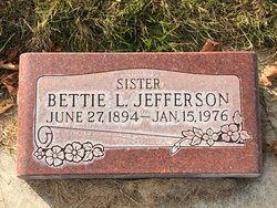 """Betty Lottie """"Bettie"""" <I>Bassett</I> Jefferson"""